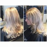 Full head of foils and toner using Olaplex